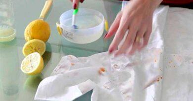 Лимонний сік і сіль допоможуть вивести плями іржі