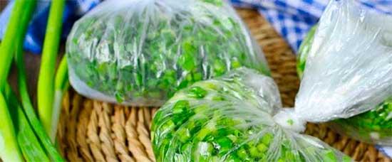 Заморожування свіжої нарізаної зелені