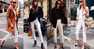 Із чим носити білі джинси