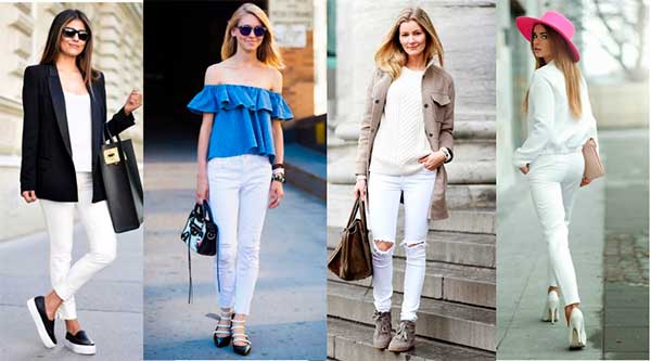 З чим поєднувати білі джинси