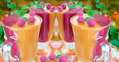 Десерт із малиною й абрикосами