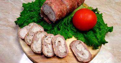 М'ясний рулет зі свинини з курячим філе