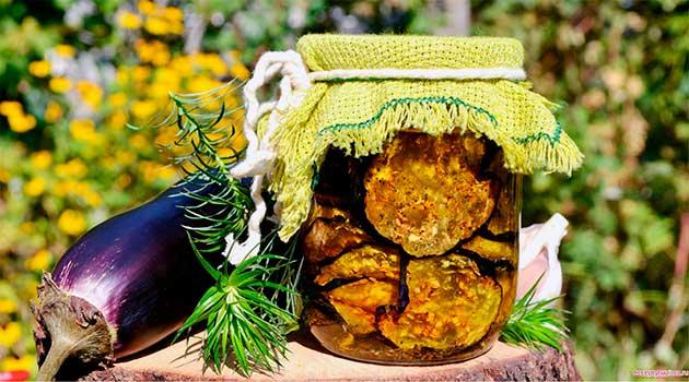 В'ялені баклажани в кунжуті