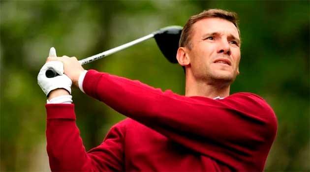 Андрій Шевченко є професійним гравцем у гольф