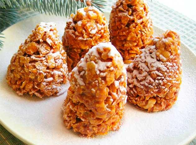 Десерт Зимові шишки