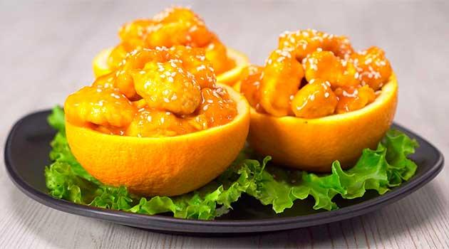 Курка в апельсиновому соусі по-тайськи