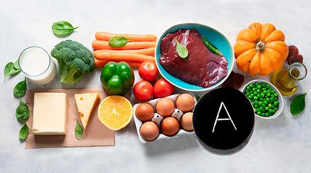 Вітамін А в продуктах