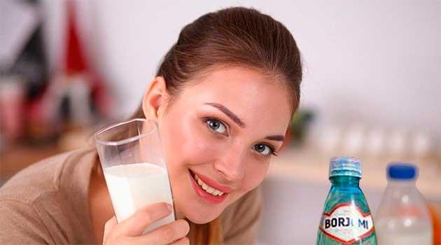 Боржомі з молоком при кашлі