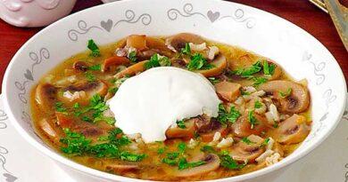 Грибний суп із кмином