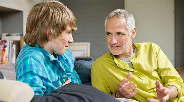 Розмова батька з сином