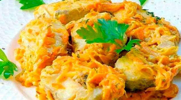 Риба під соусом у духовці