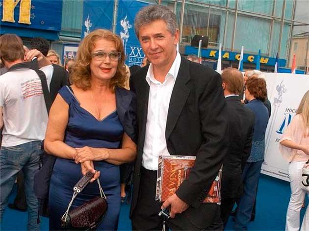 Ірина Алфьорова з чоловіком Сергієм Мартиновим