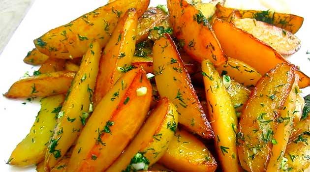 Картопля у соєвому соусі