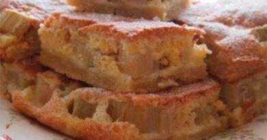 Пиріг із ревенем