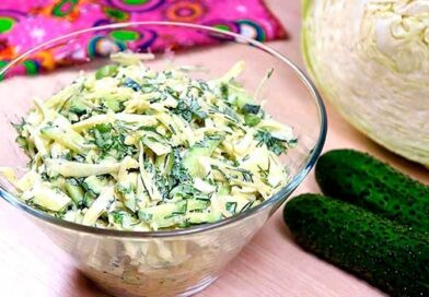 Легкий салат із гірчичною заправкою