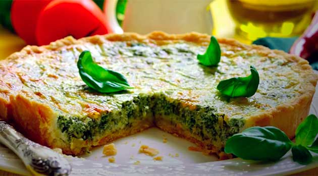 Пиріг зі шпинатом та сиром