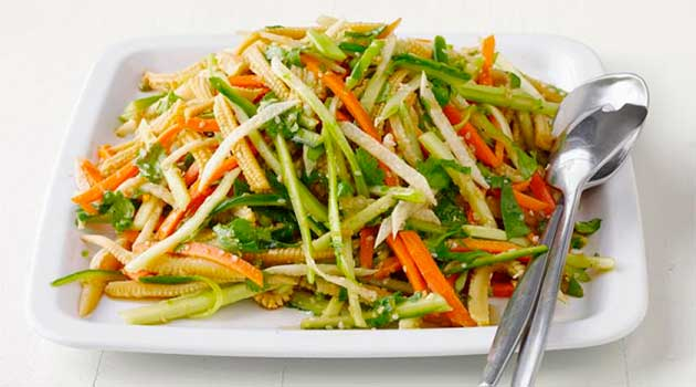 Гострий овочевий салат