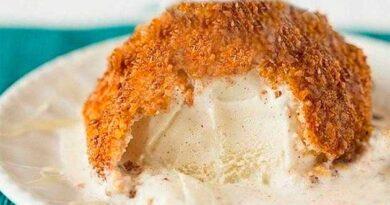 Смажене морозиво «у шубі»