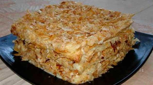 Торт «Наполеон» без випічки