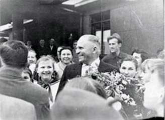 В гостях у черкаських пошуковців - Герой Радянського Союзу Д.Ф.Тарасков