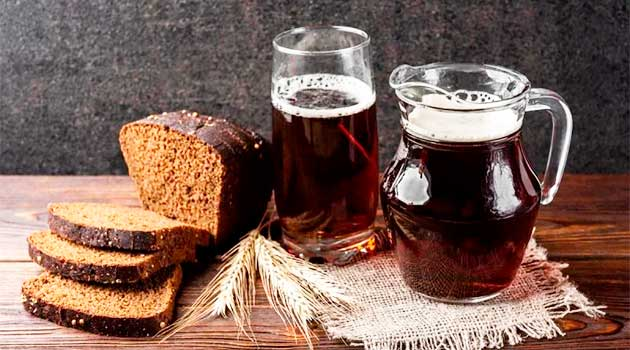 Хлібний квас без дріжджів