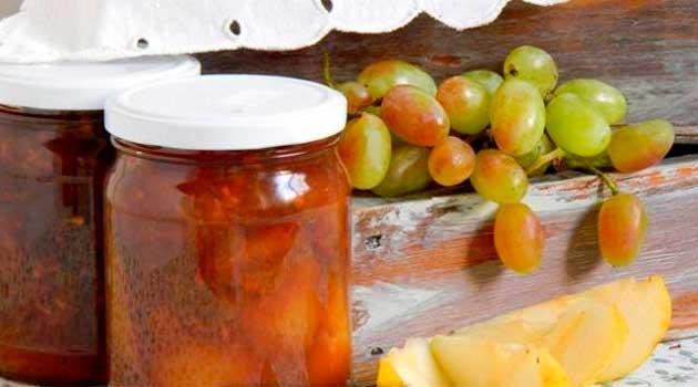 Грушеве варення з виноградом